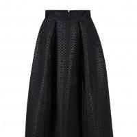 Černá midi sukně do áčka