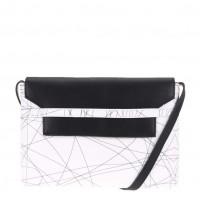 Černo-bílá kabelka přes rameno Pieces Veronica