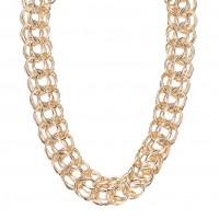 Masivní náhrdelník ve zlaté barvě