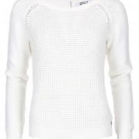 Smetanově bílý pletený svetr ONLY Ginalu