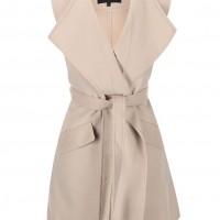 Béžová kabátová vesta VILA Burta