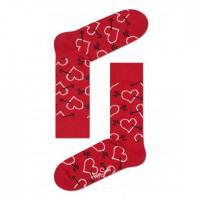 červené ponožky happy socks se srdci a šípy