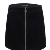 Černá manšestrová sukně se zipem