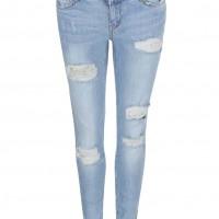 Světle modré super slim džíny