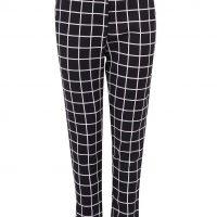 Černé kostkované kalhoty s vysokým pasem