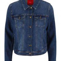 Modrá dámská kratší džínová bunda