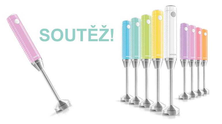 Soutěž: 5 barevných tyčových mixérů Sencor