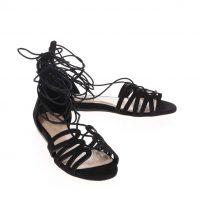 Černé semišové sandály