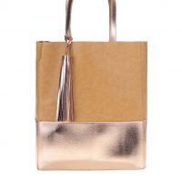 Světle hnědý shopper bag