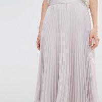 Šedá plisovaná sukně