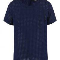 Tmavě modré transparentní tričko