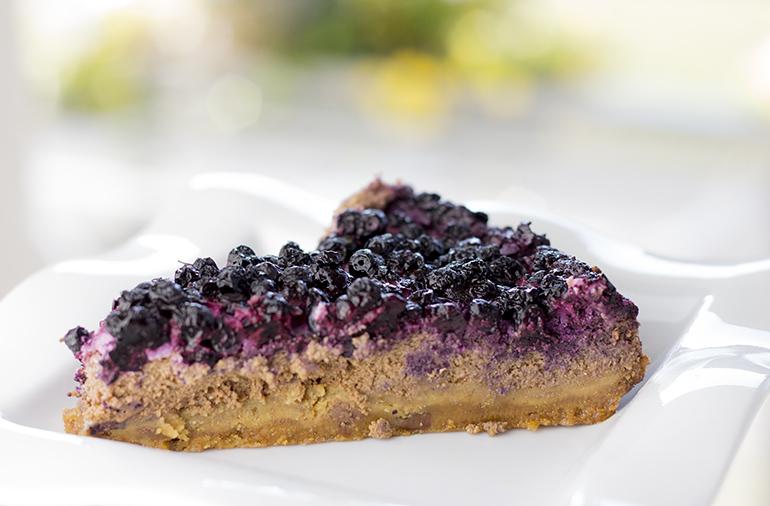 Borůvkovo-čokoládový cheesecake