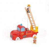 Dřevěné hasičské auto Story Set Janod s 2 figurkami
