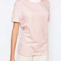 Tričko s růžovými proužky