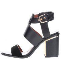 Černé sandály na podpatku