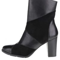 Černé kotníkové boty na podpatku