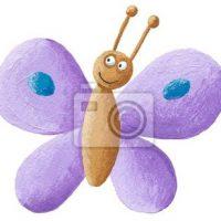 Samolepka fialový motýlek