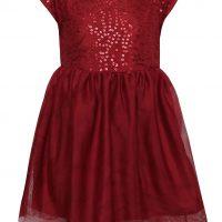 Vínové holčičí šaty s flitry