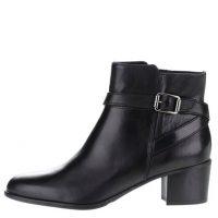 Černé kožené boty s přezkou