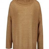 Béžový volnější svetr s rolákem