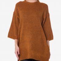 Hořčicový svetr se 3/4 rukávy