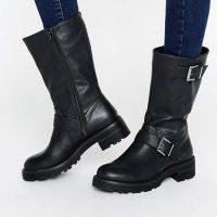 Černé biker boots