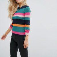 Barevný pruhovaný svetr