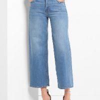 Krátké džíny v modré barvě