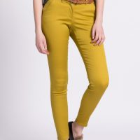 Kalhoty v hořčicové barvě