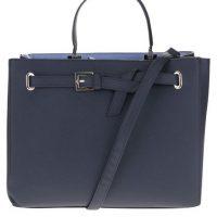 Tmavě modrá větší kabelka