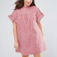 XXL šaty s gingham kostkou