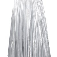 Plisovaná midi sukně ve stříbrné barvě