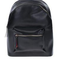 Černý batoh s detaily ve zlaté barvě