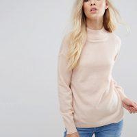 Kašmírový svetr světle růžový