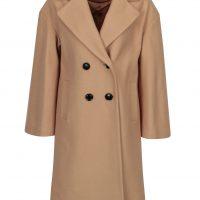 Béžový kabát s příměsí vlny