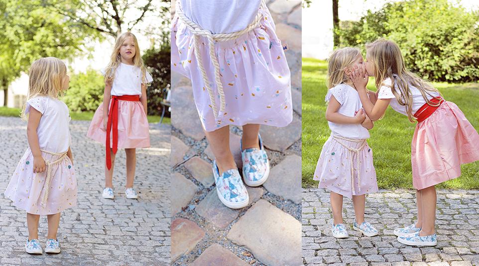 Dětský outfit: Nadýchané sukně a boty s Popelkou