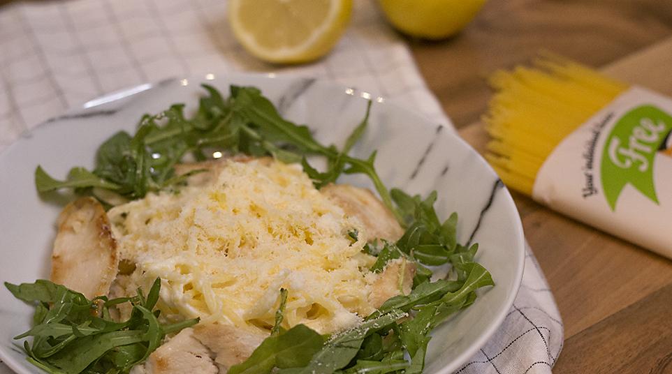 Bezlepkové špagety s citrónovo-ricottovou omáčkou / RECEPT
